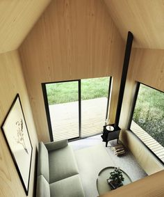 Catskills Tiny House Plan Your Very Own Modern Tiny House Weekend Getaway The Walden 144 Features Soaring Ceilings Lofted Living Space A Wood Stove Alcove Kitchen And Shower Room Tiny House Loft, Modern Tiny House, Tiny House Living, Tiny House Plans, Tiny House Design, Living Room, Kitchen Living, A Frame Cabin, A Frame House