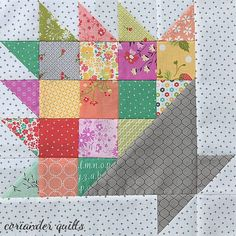 Happy Scrappy Baskets Quilt {a new quilt pattern} – Coriander Quilts Colchas Quilting, Scrappy Quilt Patterns, Scrappy Quilts, Mini Quilts, Quilting Projects, Quilting Designs, Blue Quilts, Free Quilt Block Patterns, Floral Quilts