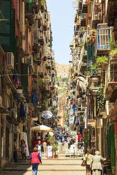 I colori di Napoli Italy