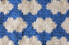 Tapestry crochet clouds