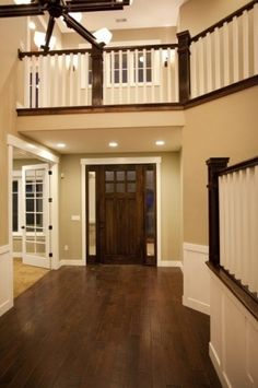 pictures of mixing stained and painted trim | Housz-painted and stained trim. | stained trim