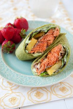 Spiced Salmon Wraps with Pineapple and Avocado | Annie's Eats