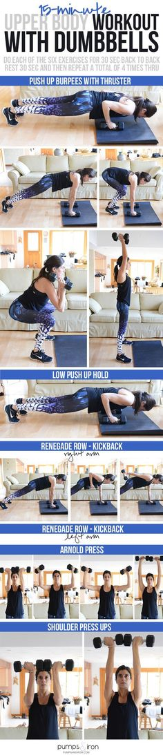 15-Minute Upper Body Workout with Dumbbells