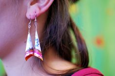 Paper earrings at IMWe 2014
