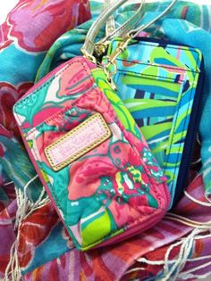 like the vera carry-all wristlet, only better because it's lilly