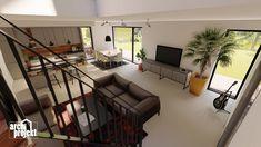 Projekt rodinného domu s názvom Castello, je dvojpodlažný dom s celkovou úžitkovou plochou 144,80 m². Dom ponúka na prízemí dostatok priestoru pre obývaciu izbu a kuchyňu s jedálenskou časťou, izbu, samostatné odvetrané WC a kúpeľňu, sklad potravín, garáž a skladovaciu miestnosť. Chodby sú navrhnuté s ohľadom pre úložný priestor typu roldor. Z obývacej izby je schodiskom sprístupnené poschodie, ktoré ponúka okrem malej kúpeľne spálňu a veľkú izbu s panoramatickým oknom a prístupom na terasu. Loft, Bed, Furniture, Home Decor, Decoration Home, Stream Bed, Room Decor, Lofts, Home Furnishings