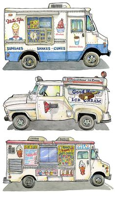 Kane - Ever since I was a little kid, I've had an obsession with ice cream trucks. I guess in some way, we all do. We've been trained since we were little to jump up and go crazy when we hear the bells of an ice cream truck. How about that dumb song, the Mr. Softee truck plays. My friend, Reid Paley who lives in Williamsburg, said that Mr. Softee used to park under his apartment window everyday in the summer.