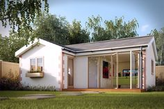Granny Annexe is one of the most forward-looking and experienced garden building companies in the UK, providing you with a complete turnkey project. Outdoor Buildings, Garden Buildings, Garden Structures, Small Tiny House, Tiny House Living, Tiny Houses, Pallet Kitchen Island, Co Housing, Timber Cabin