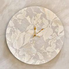 Lily Clock - 50cm Shop Clocks - Kirsty Badenhorst Interiors | Ikat & Ivory | Online Store Ikat, Clocks, Decorative Plates, Lily, Ivory, Interiors, Handmade, Shopping, Home Decor