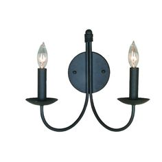 Filament Design Brno 2-Light Black Sconce