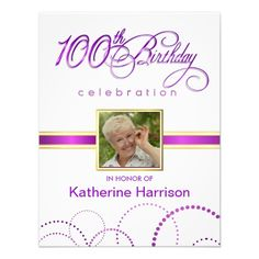 100th birthday party elegant photo invitations pinterest 100th birthday party invitations with monogram 190 filmwisefo