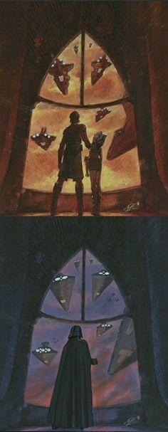 How time has changed...   Anakin / Ahsoka / Darth Vader