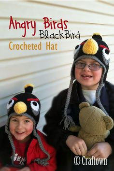 Try our free crochet pattern for an Angry Birds Black Bird Hat. Find this and many more free crochet patterns at Craftown..