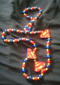 "15"" Superman Beaded Necklace  #Superhero"