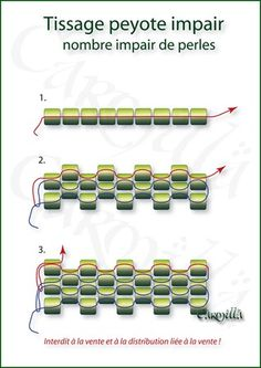 Seed bead jewelry Les secrets du tissage Peyote ~ Seed Bead Tutorials Discovred by : Linda Linebaugh Beaded jewelry Best Seed Bead Jewelry 2017 - Les secrets du tissage Peyote - Bijoux de Carmilla Seed Bead Tutorials, Seed Bead Patterns, Beaded Jewelry Patterns, Peyote Patterns, Beading Tutorials, Beading Patterns, Bracelet Patterns, Seed Bead Jewelry, Diy Accessories