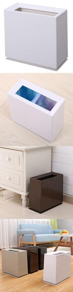 2018 Modern Fashion Style Trash Waste Bin Home Office Cleaning Househod Cleaning Dustbin Classical four corners Litter Bin DL13