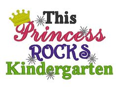 Instant Download This Princess Rock by ChickpeaEmbroidery on Etsy, $3.50