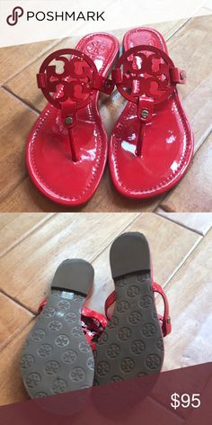 36f433ef5a445 Shop Women s Tory Burch Red size Sandals at a discounted price at Poshmark.