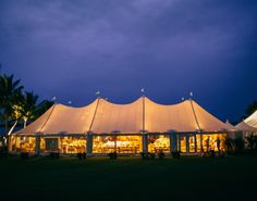 Nothing like a tented wedding by the sea. The Planning Company/Trina Cheney Hoo Photography by www.LaurenandAbby.com
