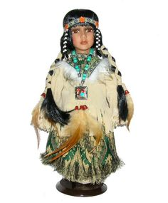 Beautiful Collectible Dolls | Native American Porcelain Doll-Stunning Native American doll-Porcelain ...