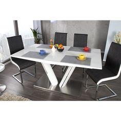 Moderne eettafels Valencia 160-220cm uitschuifbaar wit - 21944