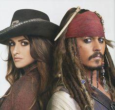 *ANGELICA MALON (Pnelope Cruz) & CAPTAIN JACK SPARROW (Johnny Depp) ~ PIRATES OF THE CARIBBEAN:
