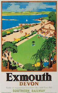 Exmouth - Devon - Southern Railway - 1947 - (Leslie Carr) -