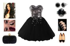 """Sparkly Dress"" by scarlet-fltcher ❤ liked on Polyvore featuring Helene Zubeldia and Christian Louboutin"