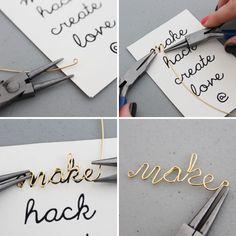 Make, Hack, Create, Love: Wire Word Friendship Bracelets