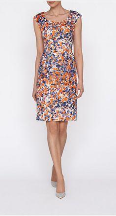 L.K. Bennett Verena Watermark Print Dress 2015