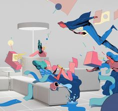 Detail of illustration for fall catalogue of office furniture company @beneoffice Thanks to agency @wemakevienna #beneoffice #illustration #drawing #runefisker