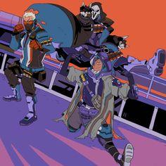 Reaper, Gabriel Reyes, Soldier 76, Jack Morrison, Ana Amari