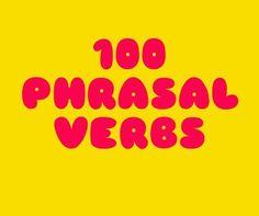 Listado de 100 phrasal verbs