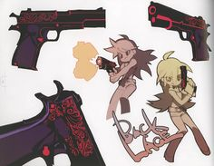 """Concept art of """"Backlace"""", Panty's main weapon in """"Panty & Stocking with…"""