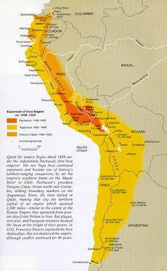 Map of The Inca Empire