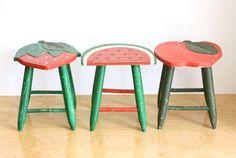vintage kid's stools