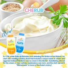 """""""A flavorful account of our favorite mayonnaise! Cherub Baby, Mayonnaise, Baby Care, Trivia, Quizes, Newborn Care"""