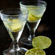 Detox ginger-lime (lemon) drink.