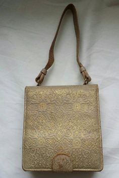 Birks sac à main vintage, sac à main vanity, maquillage sac, sac à main en 1940, rare collection mode accessoire.