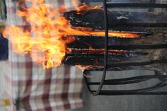 2011-11-14: log fire