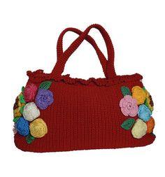 Handmade crochet handbag.