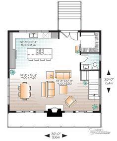 dtail du plan de maison unifamiliale w3969 - Plan Architecturale De Maison