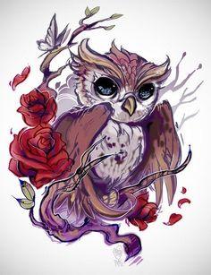 Эскиз совы#tattoo #татуировки #татупитер #артмастерскаяufo #эскизы #UfO