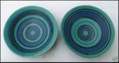 Glidden Pottery Gulfstream 4011 Bowl Pair Fong Chow Design Two Matching | eBay