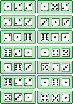 Lernstübchen: drei Würfelbilder - Anzahlen erfassen