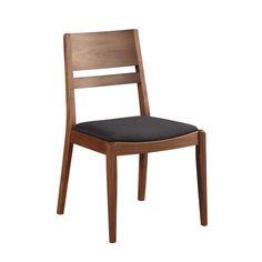 Aurelle Home Evan Solid Walnut Dining Chair (Set of 2) (Chair), Black