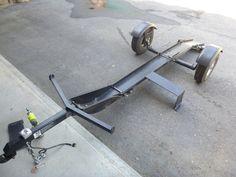 Stinger folding motorcycle trailer