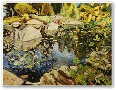 Arthur Lismer - Lily Pond Georgian Bay 1948 (Group of Seven) Tom Thomson, Emily Carr, Group Of Seven Artists, Group Of Seven Paintings, Canadian Painters, Canadian Artists, Ontario, Country Art, North Country