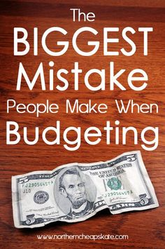 The concept of budgeting is simple: Make a plan for your money and stick to it.  But there's one BIG mistake a lot of people make that can cost you money. #frugal #budgeting #debt