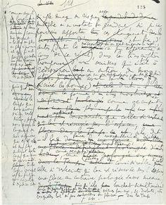 Marcel Proust's manuscript of the last page of A la recherche du temps perdu